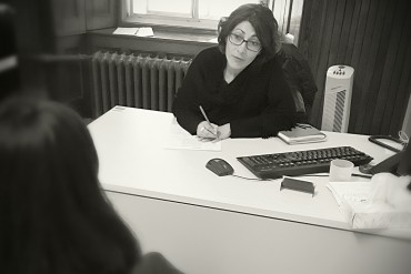Social Worker Paola Borghello at PRAIDA headquarters