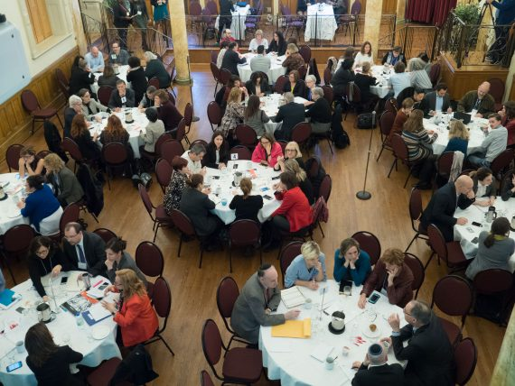 The Academic Affairs retreat, which took place November 21 at the McGill University Faculty Club, was attended by 130 senior managers from throughout CIUSSS West-Central Montreal, along with President and CEO Dr. Lawrence Rosenberg, Associate CEO Francine Dupuis, and the Chair of the Academic Affairs Committee of the Board of Directors, Dr. David Eidelman.