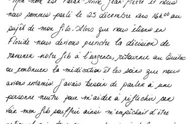letter of appreciation to Info-Santé Nurse