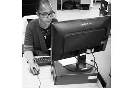 Jessica Salvara, agente administrative au siège social de PRAIDA