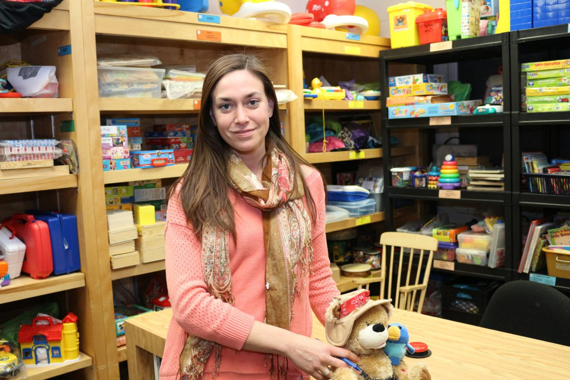 Meghan Quinn-Cardinal in the toy library