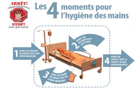 4 moments d'hygiène des mains