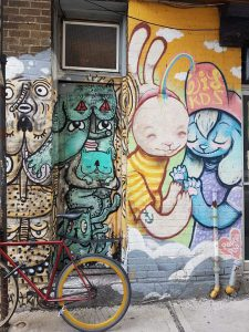 2e prix : Samar Bel Hadj. Murale de la rue Rachel, au coin du boulevard St-Laurent.