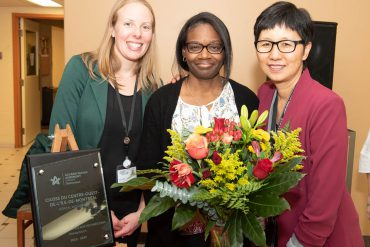 Staff members at Richardson Hospital celebrated receiving the Stroke Distinction award. From left: Kate McClurg, Clinical Activities Specialist; Alexandra Guignard, Head Nurse; Diana Chin, Program Manager.