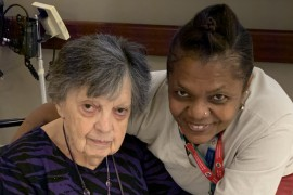 Donald Berman Jewish Eldercare resident Goldie Klein with her Primary PAB Ann Leacock