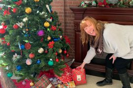 Wendy Foster, Recreation Therapist at Saint Margaret's, prepares all year so that residents will have presents for the holidays