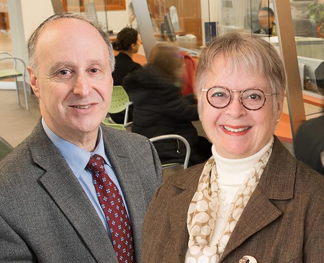 Dr Lawrence Rosenberg, Président-directeur général du CIUSSS du Centre-Ouest-de-l'île-de-Montréal et Francine Dupuis, présidente-directrice générale adjointe
