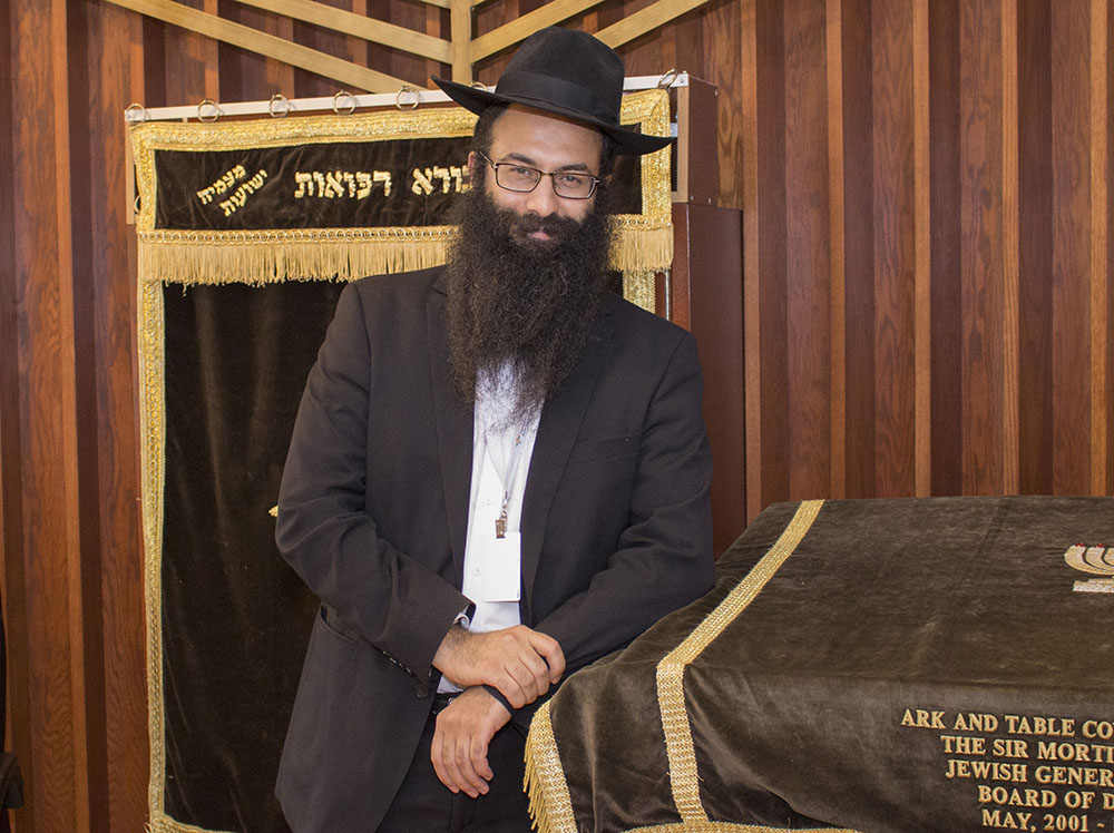 Le rabbin Barak Nissim Hetsroni, aumônier à l'Hôpital général juif