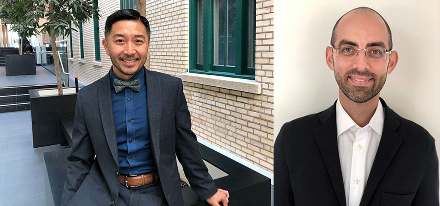 Tung Tran (left), Director of the CIUSSS's Mental Health and Addiction Program, and Dr. Marc Miresco, JGH Director of Adult Psychiatric External Services