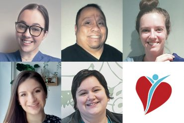 Five JGH employees have been honoured with Caring Beyond Awards. Top row, left to right: Maya Vardy, Glenn Padida, Stephanie Treherne. Bottom row, left to right: Katja Teixeira, Marie-Élaine Barbeau